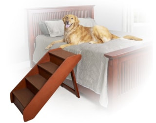Pet Stairs for Beds 36 Inches High - Solvit PupSTEP X-Large Wood Pet Stairs