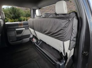 4knines Rear Bench Seat Waterproof Non Slip Cover With Hammock