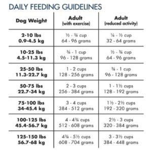 Dog Food Daily Feeding Guidelines