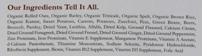 Dr. Harveys Canine Health Pre-Mix Dog Food Ingredients